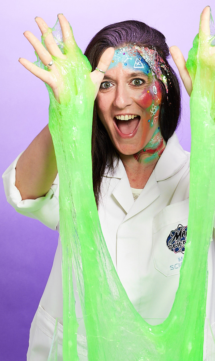 slime birthday party for kids